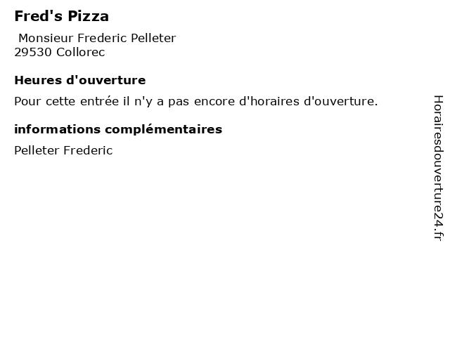 Fred's Pizza à Collorec: adresse et heures d'ouverture