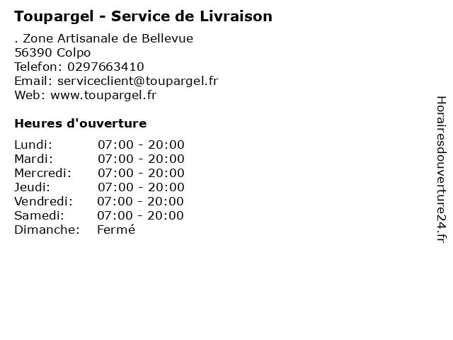 Toupargel - Service de Livraison à Colpo: adresse et heures d'ouverture