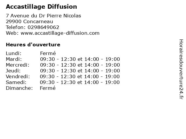 Accastillage Diffusion à Concarneau: adresse et heures d'ouverture