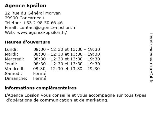 Agence Epsilon à Concarneau: adresse et heures d'ouverture