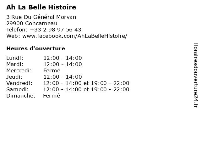 Ah La Belle Histoire à Concarneau: adresse et heures d'ouverture