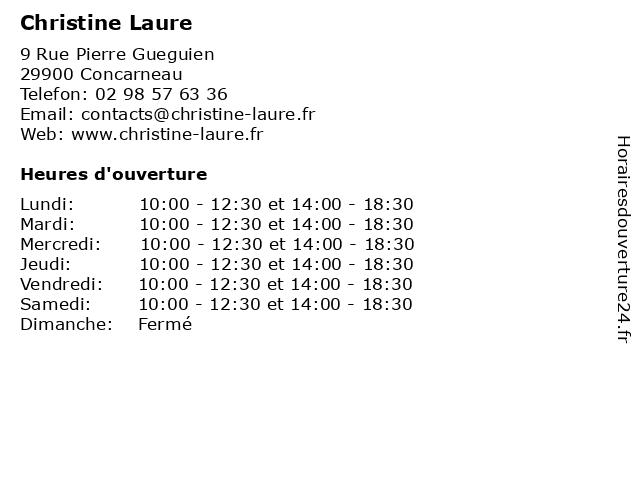 Christine Laure à Concarneau: adresse et heures d'ouverture