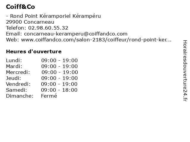 Coiff&Co à Concarneau: adresse et heures d'ouverture