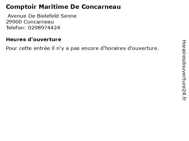 Comptoir Maritime De Concarneau à Concarneau: adresse et heures d'ouverture