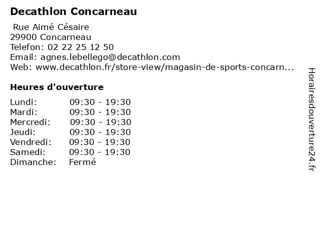 Decathlon Concarneau à Concarneau: adresse et heures d'ouverture