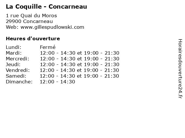 La Coquille - Concarneau à Concarneau: adresse et heures d'ouverture