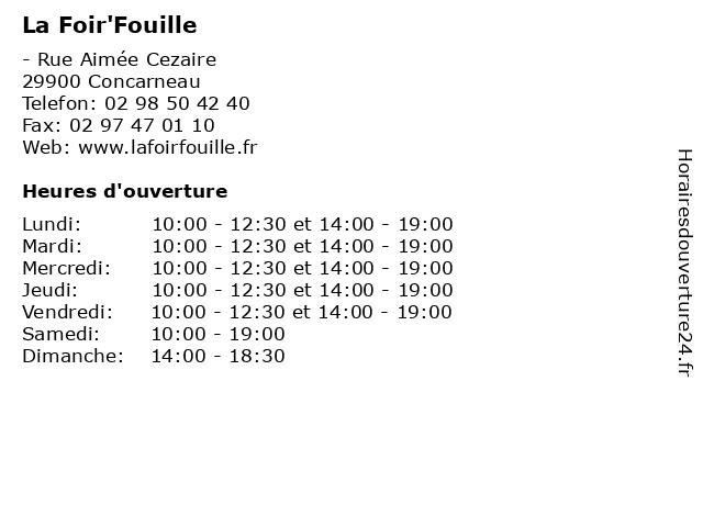 La Foir'Fouille à Concarneau: adresse et heures d'ouverture