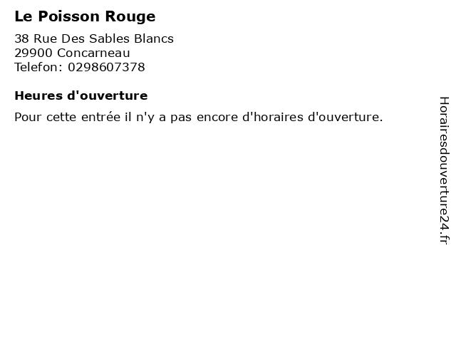 Le Poisson Rouge à Concarneau: adresse et heures d'ouverture