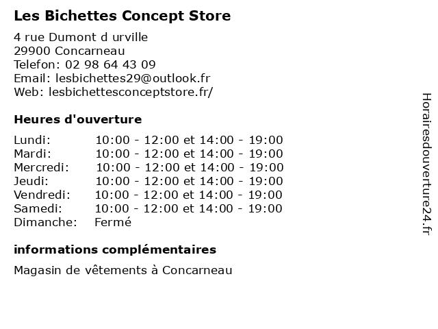 Les Bichettes Concept Store à Concarneau: adresse et heures d'ouverture