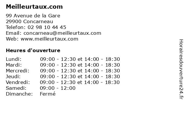 Meilleurtaux.com à Concarneau: adresse et heures d'ouverture