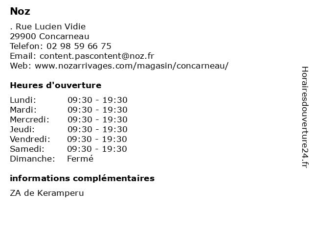 Noz à Concarneau: adresse et heures d'ouverture
