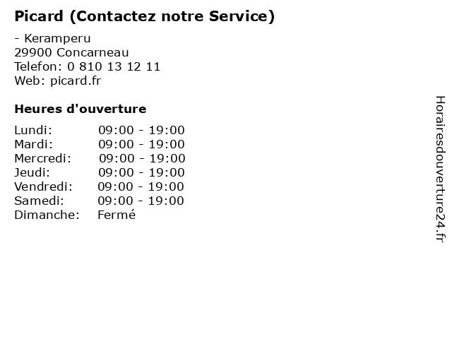 Picard (Contactez notre Service) à Concarneau: adresse et heures d'ouverture