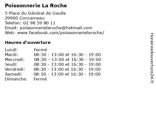 Poissonnerie La Roche à Concarneau: adresse et heures d'ouverture
