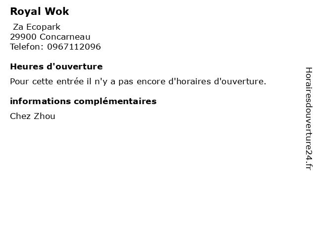 Royal Wok à Concarneau: adresse et heures d'ouverture