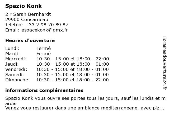 Spazio Konk à Concarneau: adresse et heures d'ouverture