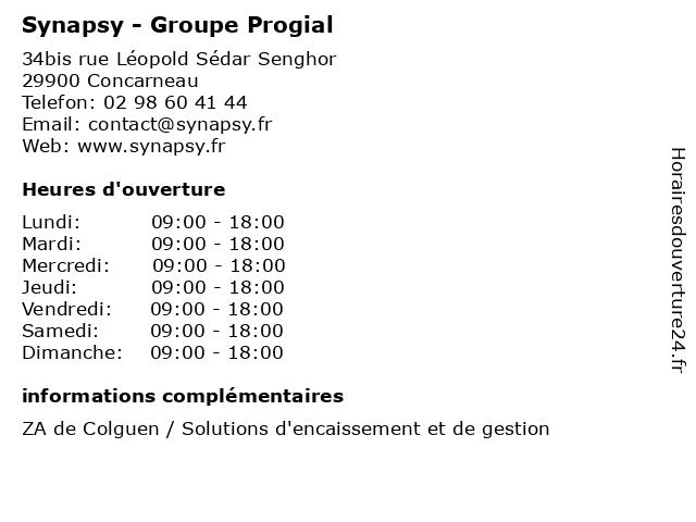 Synapsy - Groupe Progial à Concarneau: adresse et heures d'ouverture