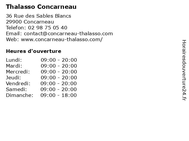 Thalasso Concarneau à Concarneau: adresse et heures d'ouverture