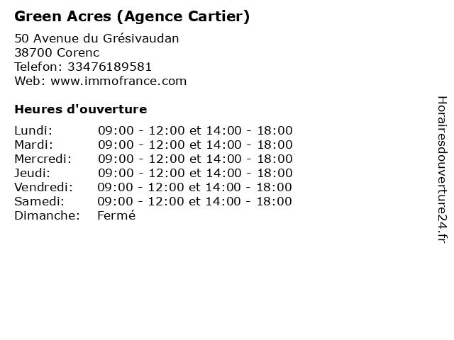 Green Acres (Agence Cartier) à Corenc: adresse et heures d'ouverture