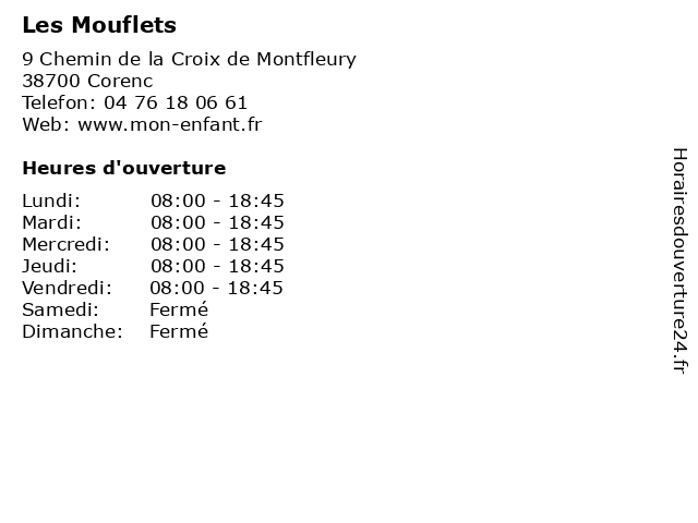 Les Mouflets à Corenc: adresse et heures d'ouverture