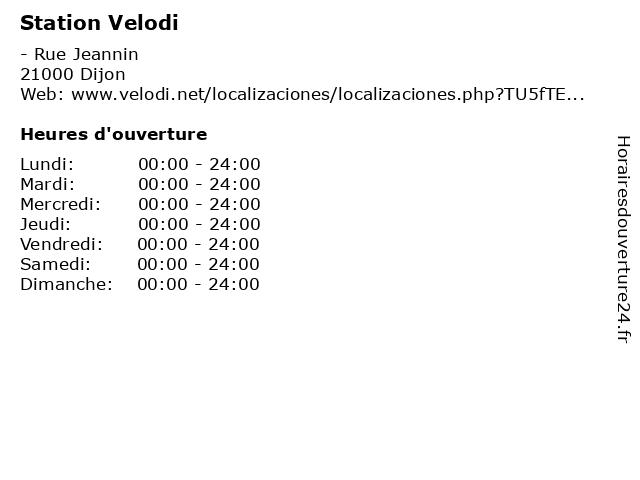 Station Velodi à Dijon: adresse et heures d'ouverture
