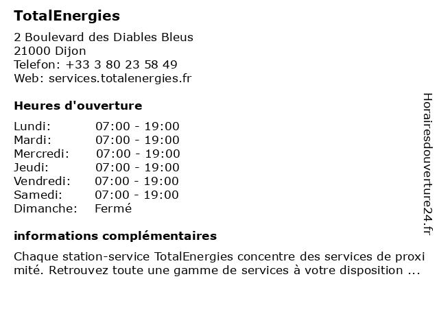 Station-Service Total à Dijon: adresse et heures d'ouverture