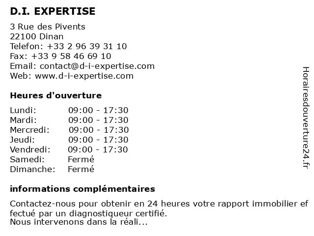 DI Expertise à Dinan: adresse et heures d'ouverture
