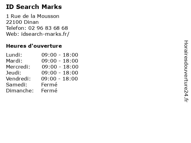 ID Search Marks à Dinan: adresse et heures d'ouverture