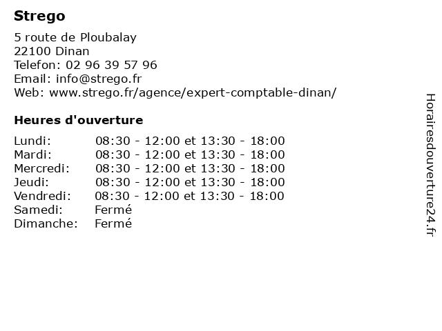 Strego à Dinan: adresse et heures d'ouverture
