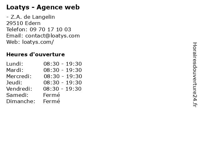 Loatys - Agence web à Edern: adresse et heures d'ouverture