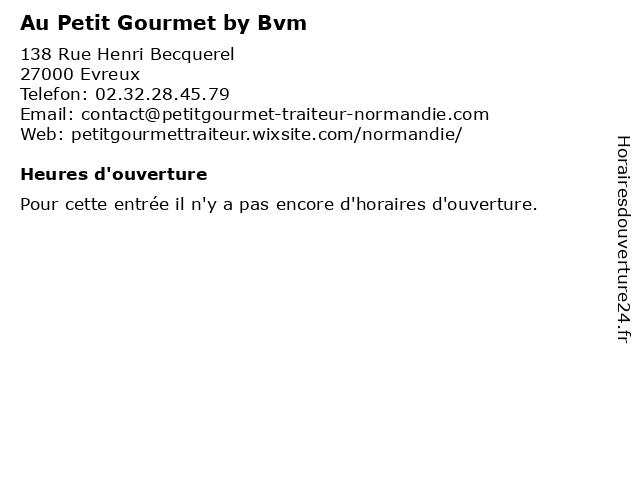 Au Petit Gourmet by Bvm à Evreux: adresse et heures d'ouverture