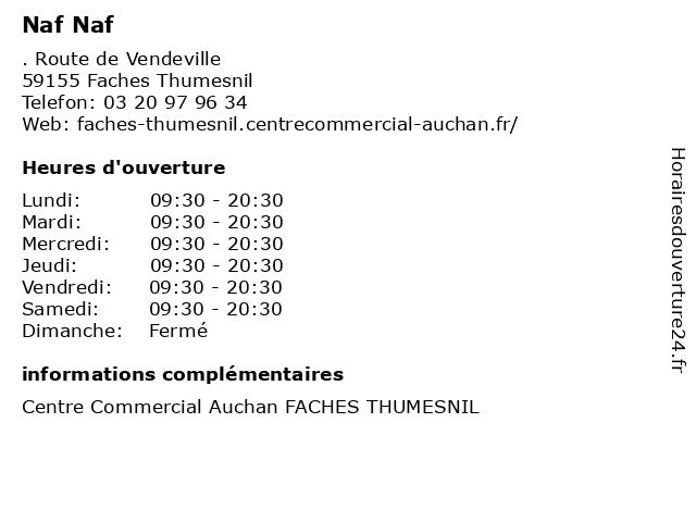 Naf Naf à Faches Thumesnil: adresse et heures d'ouverture