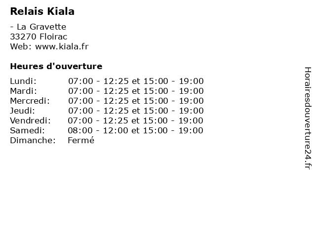 Relais Kiala à Floirac: adresse et heures d'ouverture