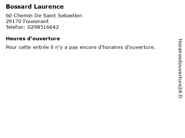 Bossard Laurence à Fouesnant: adresse et heures d'ouverture