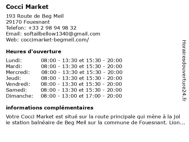 Cocci Market à Fouesnant: adresse et heures d'ouverture