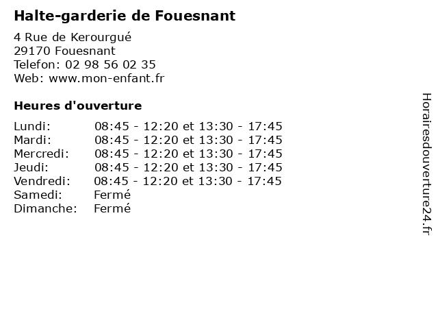 Halte-garderie de Fouesnant à Fouesnant: adresse et heures d'ouverture