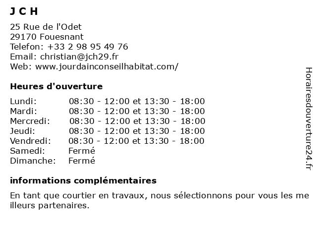 JOURDAIN CONSEIL HABITAT à Fouesnant: adresse et heures d'ouverture