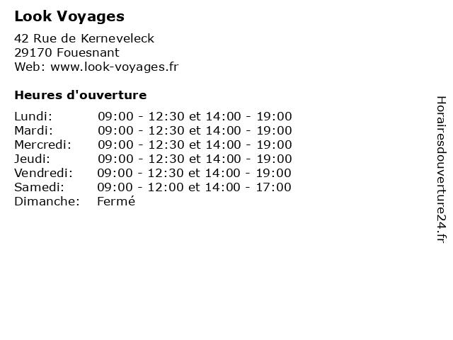 Look Voyages à Fouesnant: adresse et heures d'ouverture