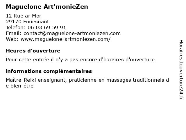 Maguelone Art'monieZen à Fouesnant: adresse et heures d'ouverture