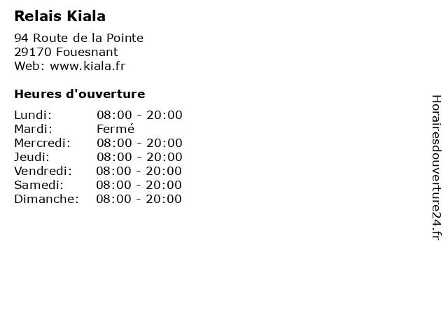 Relais Kiala à Fouesnant: adresse et heures d'ouverture