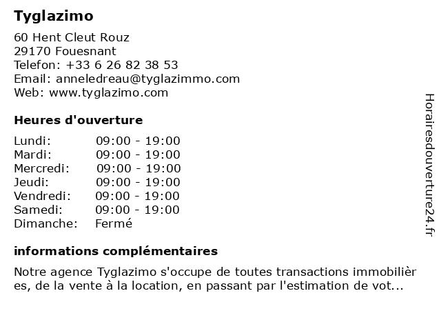 Tyglazimo à Fouesnant: adresse et heures d'ouverture