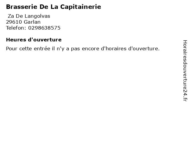 Brasserie De La Capitainerie à Garlan: adresse et heures d'ouverture