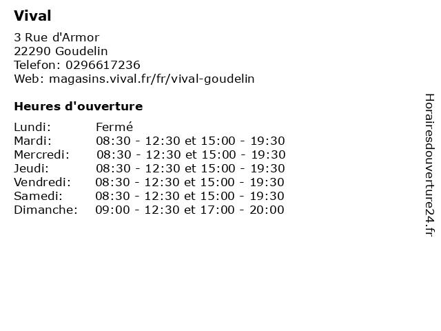 Vival à Goudelin: adresse et heures d'ouverture