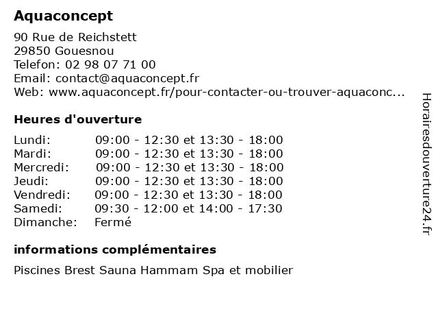 Aquaconcept à Gouesnou: adresse et heures d'ouverture