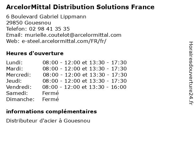ArcelorMittal Distribution Solutions France à Gouesnou: adresse et heures d'ouverture