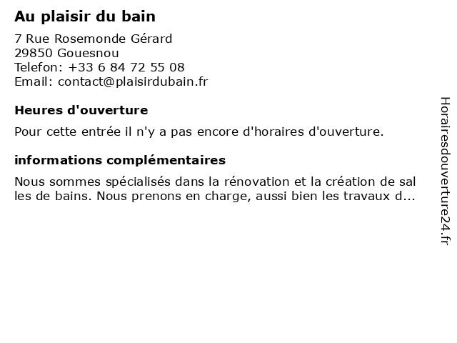 Au plaisir du bain à Gouesnou: adresse et heures d'ouverture