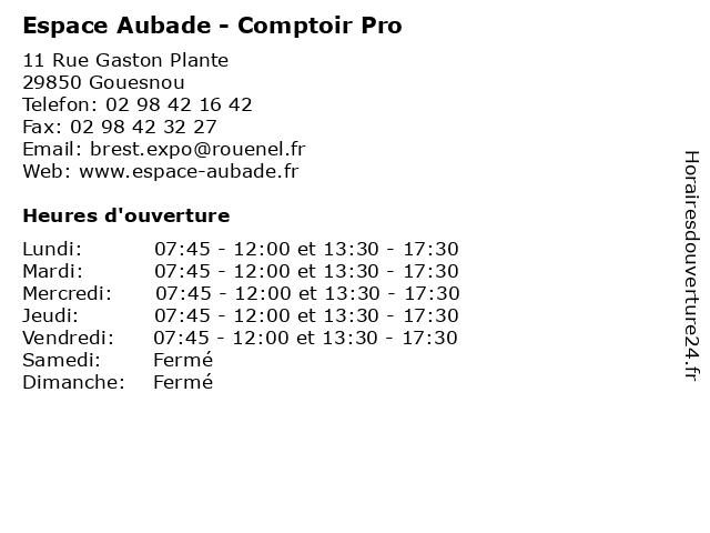 Espace Aubade - Comptoir Pro à Gouesnou: adresse et heures d'ouverture