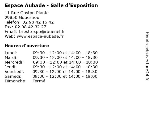 Espace Aubade - Salle d'Exposition à Gouesnou: adresse et heures d'ouverture