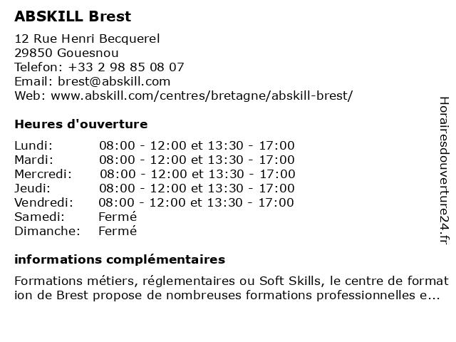 Forget Formation à Gouesnou: adresse et heures d'ouverture