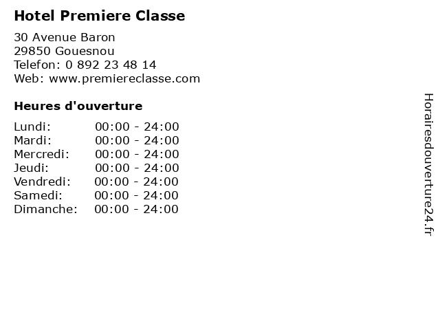 Hotel Premiere Classe à Gouesnou: adresse et heures d'ouverture