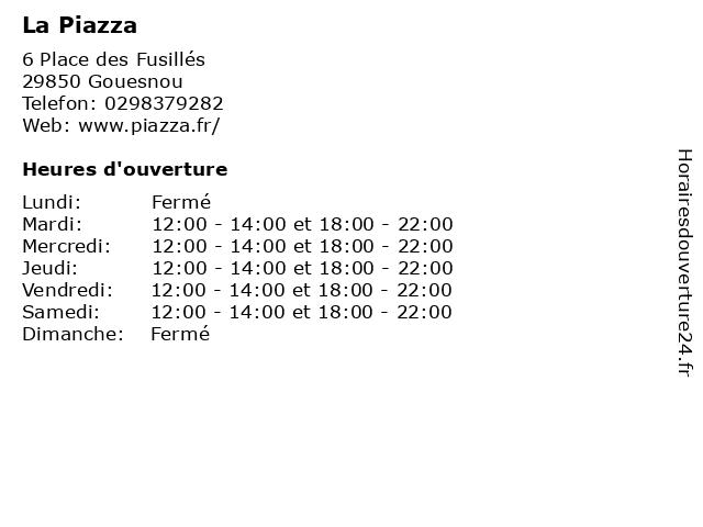 La Piazza à Gouesnou: adresse et heures d'ouverture